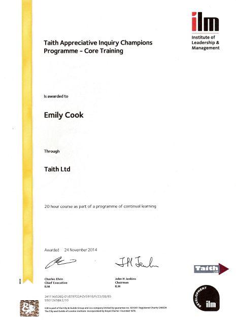 ILM Appreciative Inquiry Champions Certificate
